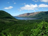 View of Trout River Pond and Tablelands